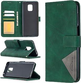 LODROC Xiaomi Redmi Note 9 Pro hoes, TPU lederen hoes magnetische beschermhoes [kaartenvak] [standfunctie], stootvaste tas...