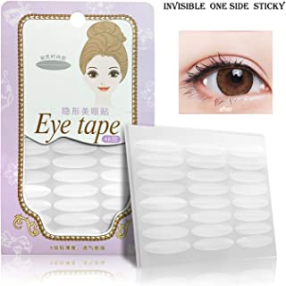 Ultra Invisible Single Side Sticky Eyelid Tape Stickers Fiber, Perfect for Hooded, Droopy, Uneven, or Mono-eyelids(Wide)