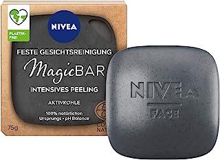 NIVEA MagicBar Vaste gezichtsreiniging, Intensieve peeling (75 g), matterende gezichtspeeling tegen mee-eters, gecertifice...