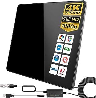 Antena de TV,Antena de TV Digital para Interiores de Alcance de 280KM con Amplificador Inteligente de Señal, Adecuada para...