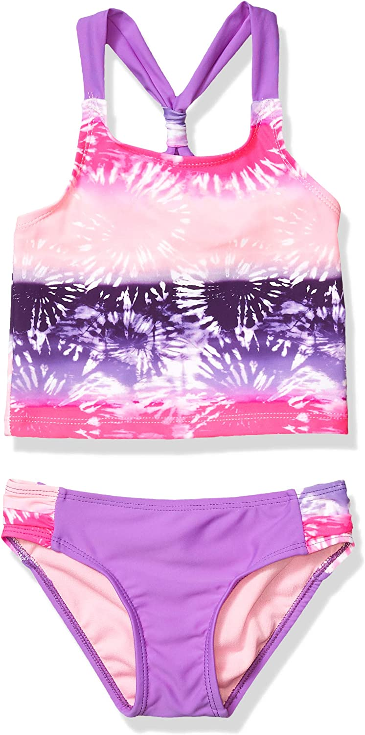 Limited Too Girls' Little Criss-Cross Back Printed Tankini Swimsuit