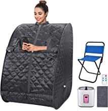OppsDecor Portable Steam Sauna Spa, 2L Personal Therapeutic Sauna for Weight Loss Detox..