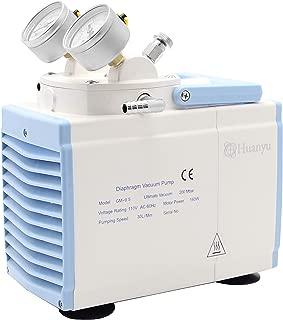 Huanyu Oiless Diaphragm Vacuum Pump Oil Free Anticorrosive Pump Industrial Lab 30L/min 110V (Ordinary Type, GM-0.5A(Single Head))