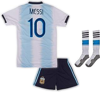 Argentinien Messi Trikot Set #10 2020 Heim Kinder Fussball Trikot Mit Shorts Und Socken