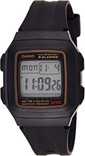 Casio Boys Digital Watch, Digital Display and Resin Strap F-201WA-9A