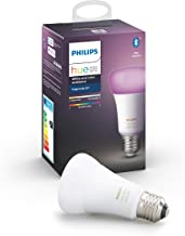 Philips Hue White and Colour Ambiance Single Smart Bulb LED [E27 Edison Screw] with Bluetooth, Works with Alexa and Google...