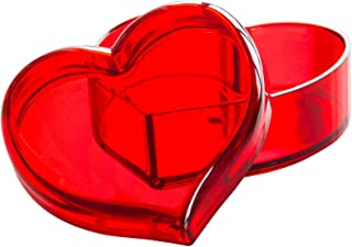 Solly´s Clara Acrylic Heart Box Jewelry & Cosmetic Storage or Gift Box - Red