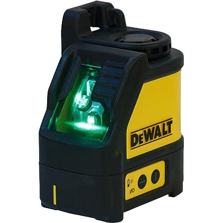 DEWALT DW088CG-XJ verde fascio laser a croce con custodia per il trasporto, giallo/nero