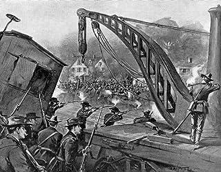 Pullman Strike 1894 Nillinois National Guardsmen Firing On Pullman Company Strikers In Chicago 7 July 1894 Illustration Fr...