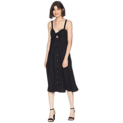 Splendid Dahlia Linen Slub Midi Dress (Black) Women