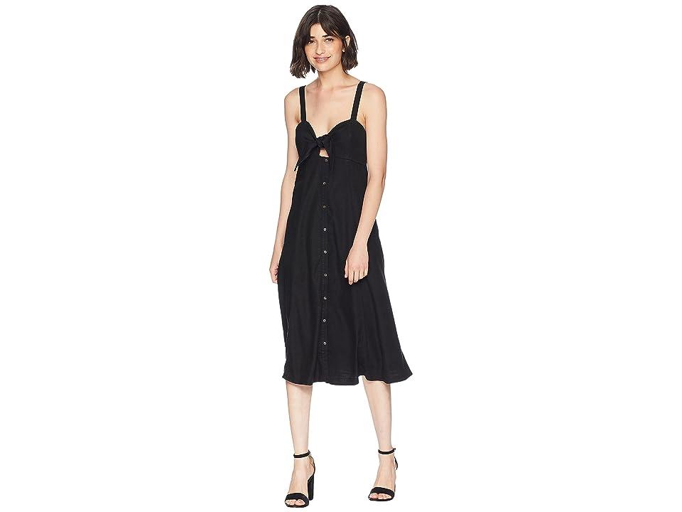 Splendid Dahlia Linen Slub Midi Dress (Black) Women