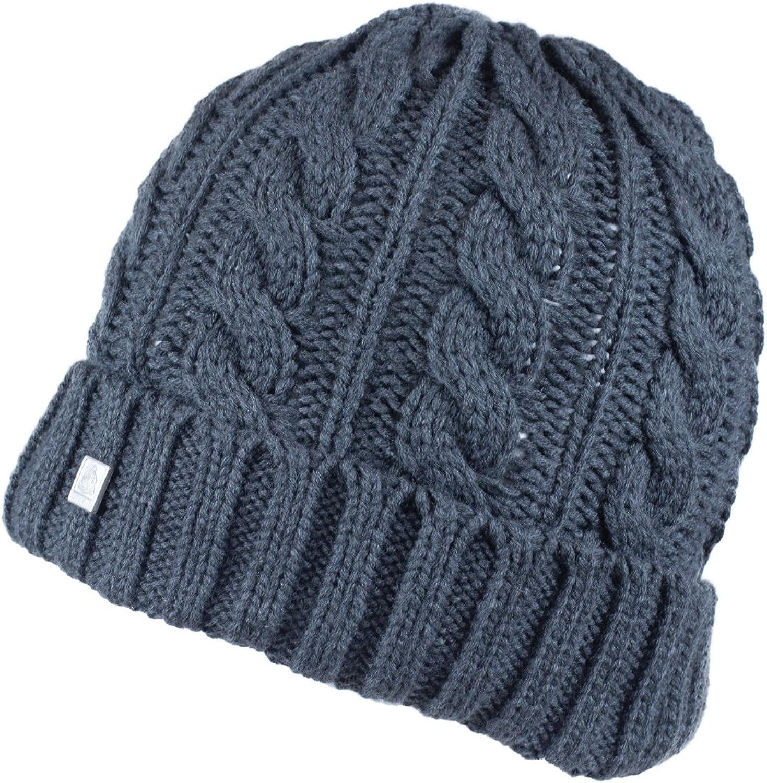 Olann Charcoal Grey Beanie  Irish Knit Thick Warm Winter Hat