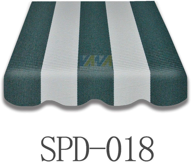 Vana deutschland GmbH Markisenstoff Markisenbespannung Ersatzstoff Plus Volant fertig Genht 3x2,5m SPD018