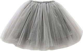 comprar comparacion Happy Cherry - Falda Tutu con Capas de Danza Ballet Fiesta Boda Cumpleaños para Niña Princesa Cintura Elástica