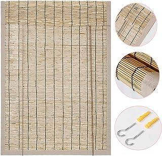 NIANXINN Tapparella a Carrucola in Bamboo,Isolamento Termico Ventilazione Ombra Tenda A Rullo in bamb/ù,per Esterni//Interni//Giardino//Balcone//Finestra,Personalizzate 50x60cm//20x24in