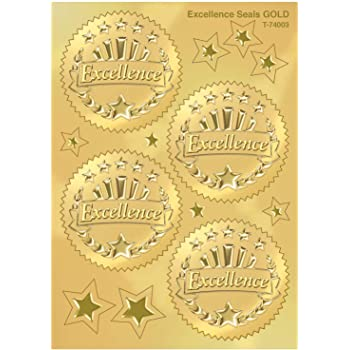Reward Stickers Value Pack Embossed 96 Gold Excellence Award Seals