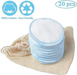 arbitra 20Pcs Discos Desmaquillantes Reutilizables Bambu,