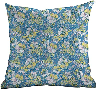 Amazon.com: Kenneth Camilla Decor Pillowcase Blue and White ...