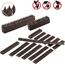 WeyTy , Bird Repellent Climb Fence to Keep Off Roosting Pigeons and More Small Animals Out. Plastic Deterrent Theft Climb Strips - 10 Pack [16.4 Foot]
