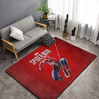GOOCO Tapis Enfants Salon Dessin Animé Spiderman-Motiv Modèle 3D Salon Chambre Chambre Chevet Table Basse Panier Suspendu ...