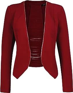 Women's Open Front Lightweight Cardigan Blazer Jacket with Plus Size (1XL ~ 3XL)