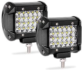 Quad Row Led Pods 2Pcs 4'' 144W LED Light Bar Spot Beam LED Cubes for Truck Boat Motorcycle Jeep