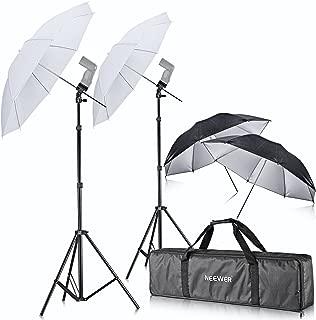 Neewer Off Camera Double Speedlight Flash ShoeMount Swivel Soft Umbrella Kit for Canon 430EX II,580EX II,600EX-RT,Nikon SB600 SB800 SB900,Yongnuo YN 560,YN 565,Neewer TT560,TT680,TT850,TT860