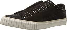 Studded Waxy Suede Low Top