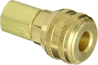 Eaton Hansen 3200 Brass ISO-B Interchange Pin Lock Pneumatic Fitting, Socket, 3/8