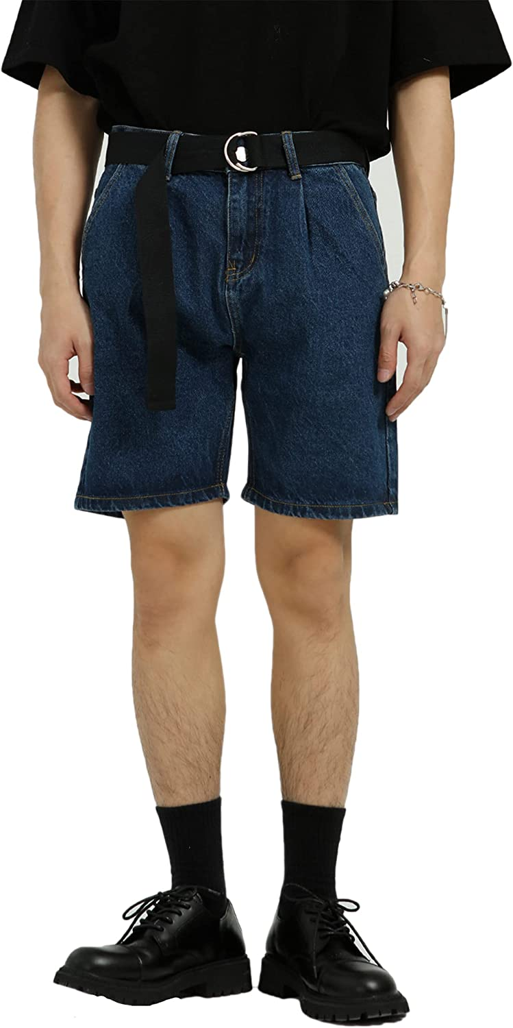 APCHYC Men's Denim Shorts Straight Animer and price revision Cargo Industry No. 1 Summer with Poc