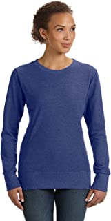 Anvil Clementine Ringspun French Terry Mid-Scoop Sweatshirt 72000L -Heather Blue S