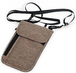 Passport Holder Travel Neck Wallet with RFID Blocking Neck Stash Pouch