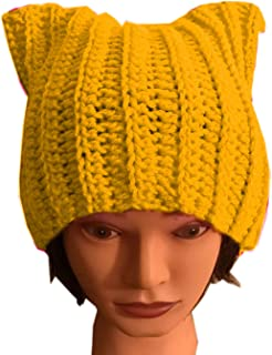 5772b0cb8e0c54 ALLDECOR Handmade Knitted Pussy Cat Ear Beanie Hat for Women's March Winter  Gifts