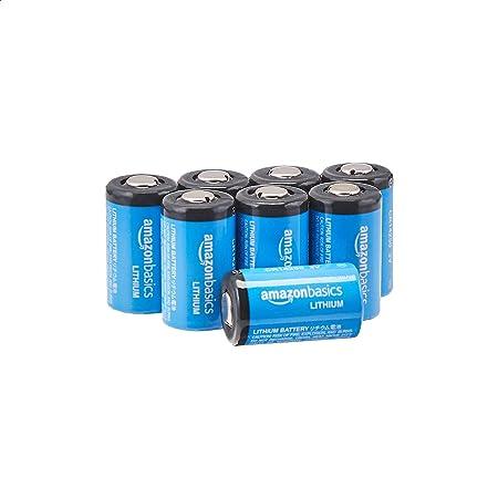 Amazon Basics 8 Pack CR14250 High-Capacity 1/2 AA 3 Volt Lithium Batteries