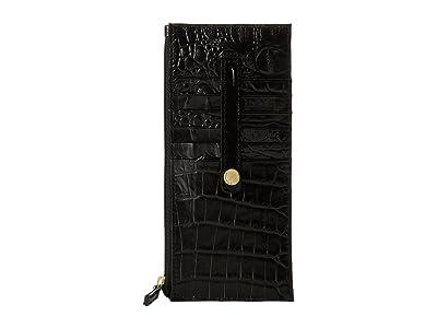 Brahmin Melbourne Credit Card Wallet (Black) Wallet Handbags