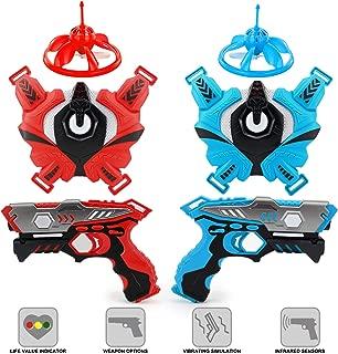 Laser Tag Gun Set for Kids, Infrared Laser Guns and Vests Set of 2