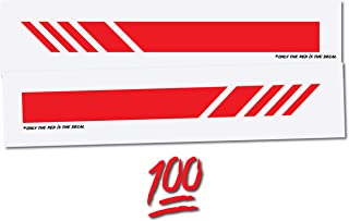 Car Mirror Racing Stripe Graphic Decals [ Vinyl Accent Stickers for Cars Trucks SUV - Vivid red - 6