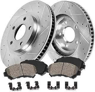 Callahan CDS03080 FRONT 299.86mm D/S 5 Lug [2] Rotors + Ceramic Brake Pads + Clips [ 2011 2012 ACURA TSX ]