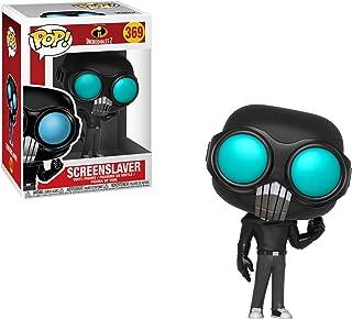 Funko Screenslaver POP! Disney Pixar - Juego de 2 figuras de vinilo y 1 tarjeta de comercio clásica de Disney (# 369 / 29207)