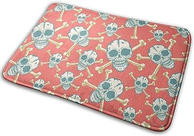 Skulls for Halloween Carpet Non-Slip Welcome Front Doormat Entryway Carpet Washable Outdoor Indoor Mat Room Rug 15.7 X 23.6 inch