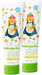 Babyganics Baby Diaper Rash Cream, 2 Count