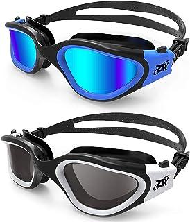 ZIONOR Swim Goggles, 2 Packs G1 Polarized Swimming...
