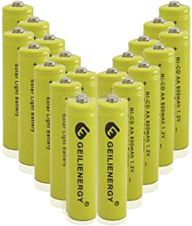 GEILIENERGY Solar Light AA Ni-CD 600mAh 1.2V Rechargeable Batteries AA Rechargeable..