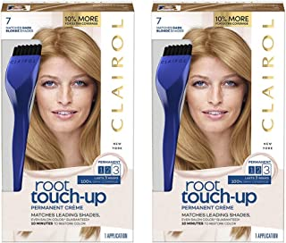 Clairol Nice 'n Easy Root Touch-Up 7 Kit (Pack of 2), Matches Dark Blonde Shades of Hair Coloring, Includes Precision Brush Tool