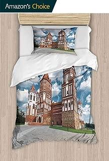 PRUNUSHOME Bedding 2 Piece Bed Sheet Set View on Castle mir in republi Belarus at Daytime Crisp Bed Linen California King
