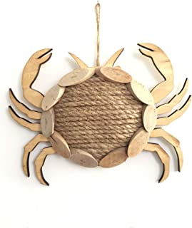 WANDERBAL HOME Nautical Wooden Crab with Rope Indoor Wall Hanging Decor 11.6