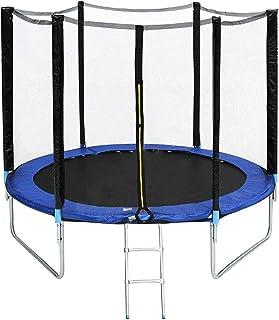 GAO XING SHOP Studsmatta super stor utomhus barn trampolin för trädgård med säkerhetshölje nät och stege kant skydd hoppan...