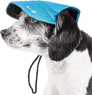 Pet Life ® 'Cap-Tivating' Uv Protectant Adjustable Fashion Dog Hat Cap, Medium, Blue