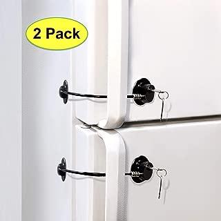 Fridge Lock, Refrigerator Lock, mini fridge lock, File Cabinet Lock, Drawer Lock, Lock for Cabinet, Child Safety lock Refrigerator Door Lock, fridge door lock with key by ToolsGold (2 Pack)
