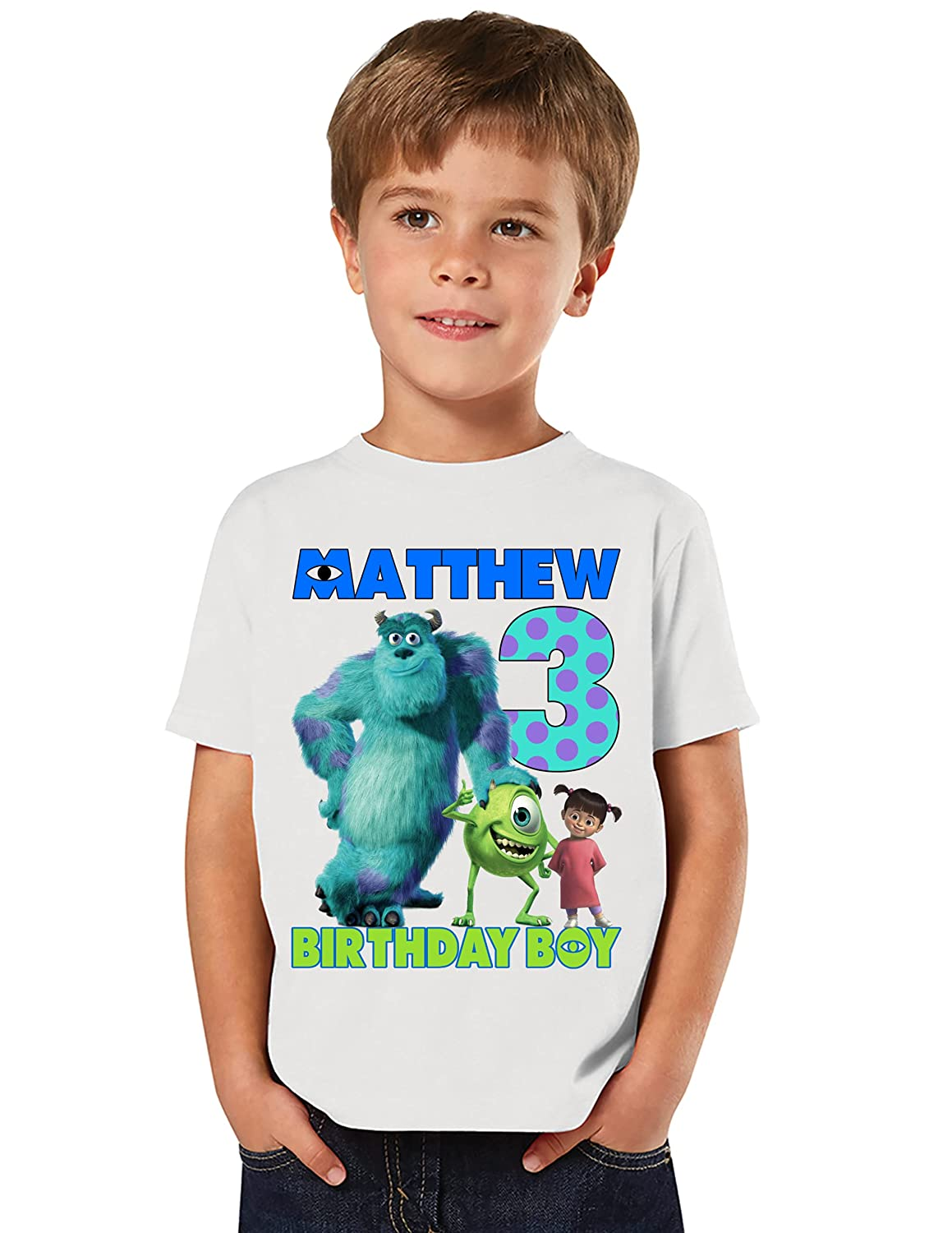 PARTY SHOP Cheap super special price Albuquerque Mall Customizable Shirts for Inc Monsters Themed a Birthda